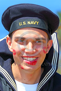 HR-WWIIUSN 00021 A happy young US Navy World War II era sailor historical re-enactor by Peter J Mancus
