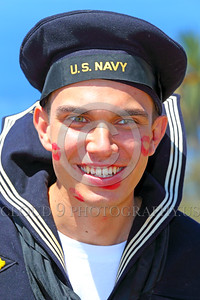 HR-WWIIUSN 00015 A happy young US Navy World War II era sailor historical re-enactor by Peter J Mancus