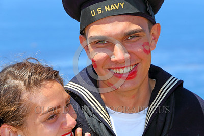 HR-WWIIUSN 00013 A happy young US Navy World War II era sailor historical re-enactor by Peter J Mancus