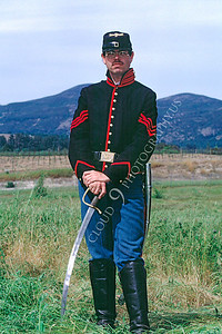 HR-ACWY 00003 A Yankee leans on his sword American Civil War historical reenactor, by Peter J Mancus