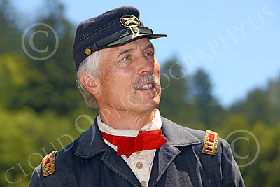 HR-ACWY 00006 Portrait of an American civil war Yankee artillery officer historical reenactor, by Peter J Mancus