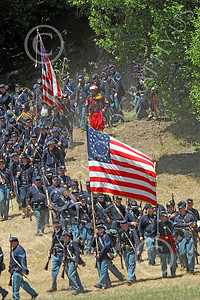 HR-ACWY 00031 Yankee historical reenactors on the move, in mass, by Peter J Mancus