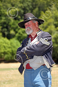 HR-ACWY 00007 An American civil war Yankee sergeant historical reenactor stands with arms crossed, by Peter J Mancus