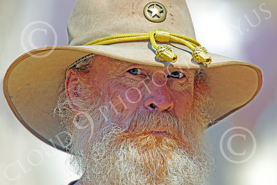 HR-ACWR 00034 An older bearded Confederate rebel with a serious, focused, look, by Peter J Mancus