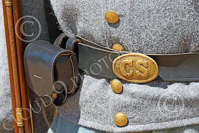 HR-ACWR 00022 Close up of a common Confederate soldier's belt buckle--CS for Confederate States, by Peter J Mancus