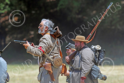 HR-ACWR 00020 Confederate rebels watch a battle from a distance, by Peter J Mancus