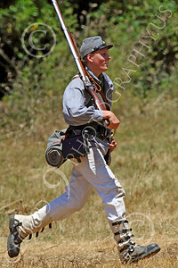 HR-ACWR 00013 A Confederate rifleman jogs to change his position, by Peter J Mancus