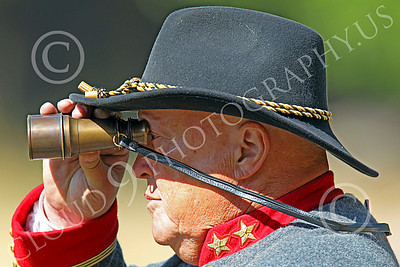 HR-ACWR 00040 A Confederate officer looks through his binoculars, by Peter J Mancus