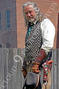 HR - AWGS 00001 American western gunslinger re-enactor in a relaxed pose, by Peter J Mancus