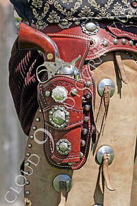 HR - AWGS 00008 An American western gunslinger re-enactor's holstered six-shooter, by Peter J Mancus