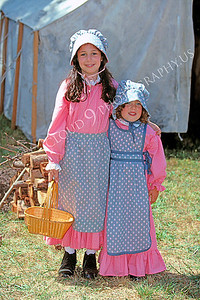 HR-ACWC 00009 American Civil War civilian -- an older sister with her arm around her younger sister, by Peter J Mancus