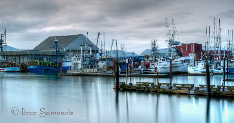 12-24-12 Garibaldi Marina - I was able to shoot this image this morning.  I was finally able to get out and try shooting with my new Lee Big Stopper (10 stop ND) that I bought about a month ago.  First chance that the weather permitted a long exposure that I was able to get out.  This is a three exposure stack 25 sec, 30 sec, and 40 sec.  <br /> <br /> Critiques Welcome.