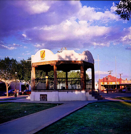 Mesilla Plaza, Mesilla, New Mexico, July 1985.