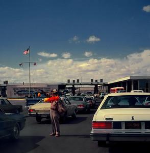Border crossing between El Paso and Ciudad Juarez. July 1985.