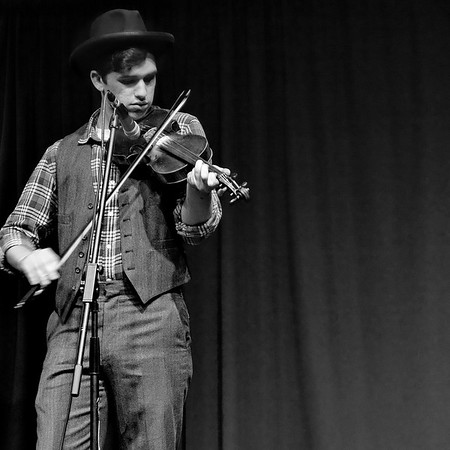 Austin Derryberry, fiddle. April 2016.