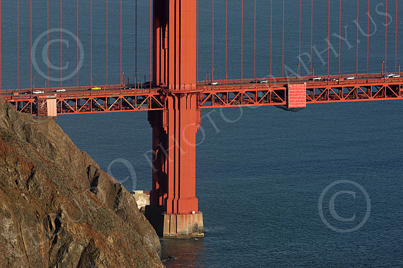 ENGF-GGB 00083 A tight crop of the bottom of the Golden Gate Bridge's north tower, by Peter J Mancus