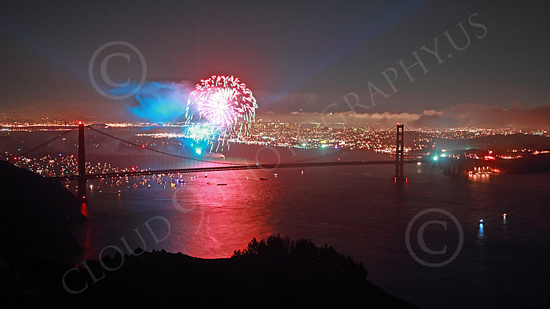 ENGF-GGB 00319 A beautiful and colorful view of a Golden Gate Bridge landmark anniversary celebration picture by Peter J Mancus