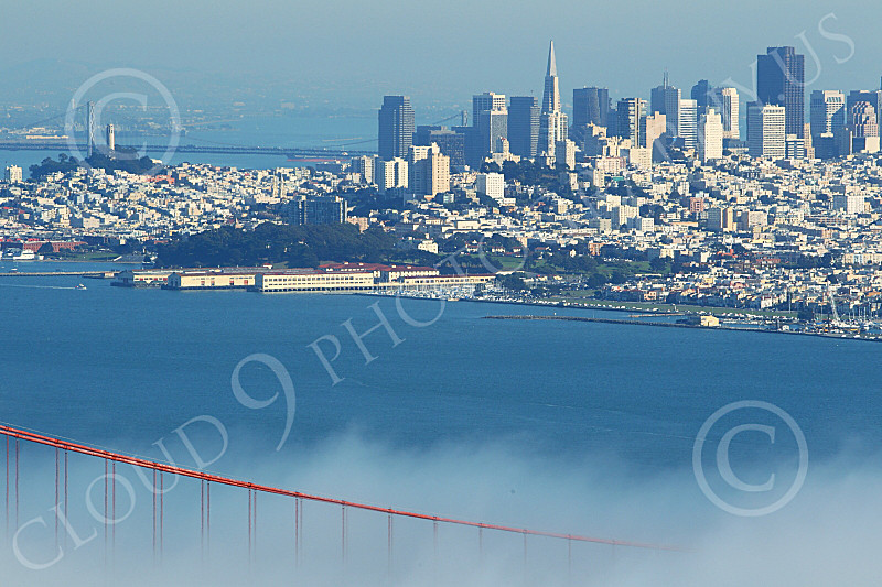 ENGF-GGB 00270 San Francisco and a small part of its world famous Golden Gate Bridge, by Peter J Mancus