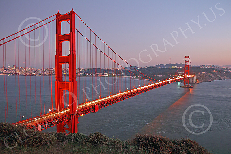 ENGF-GGB 00002 The Golden Gate Bridge at twilight, by Peter J Mancus