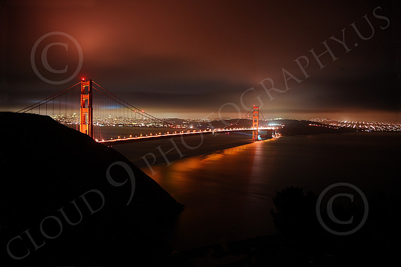 ENGF-GGB 00099 An expansive night view of the Golden Gate Bridge, by Peter J Mancus