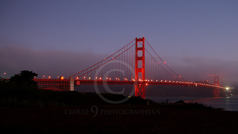ENGF-GGB 00005A The Golden Gate Bridge in dim light, by Peter J Mancus