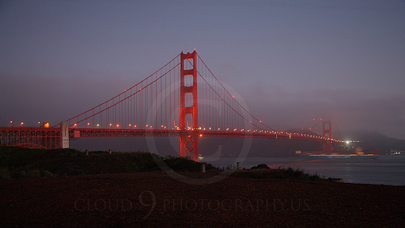 ENGF-GGB 00004A The Golden Gate Bridge in dim light, by Peter J Mancus