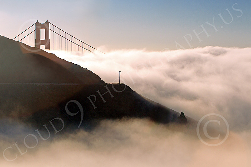 ENGF-GGB 00065 Thick fog rolls in on the Golden Gate Bridge, by Peter J Mancus
