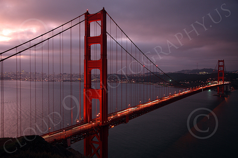 ENGF-GGB 00064 The Golden Gate Bridge at night, by Peter J Mancus