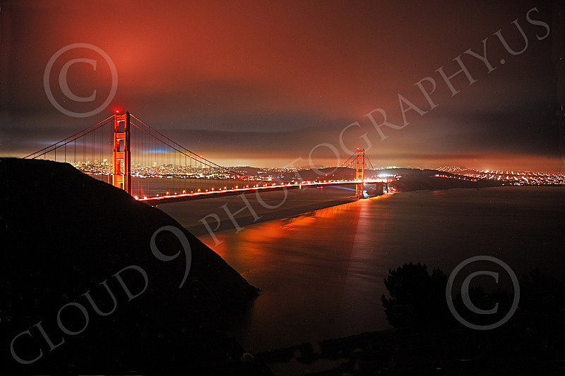 ENGF-GGB 00053 An expansive night view of the Golden Gate Bridge, by Peter J Mancus