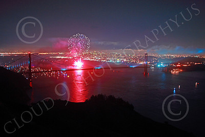 ENGF-GGB 00361 Colorful fireworks burst above the Golden Gate Bridge to celebrate a landmark anniversary picture by Peter J Mancus
