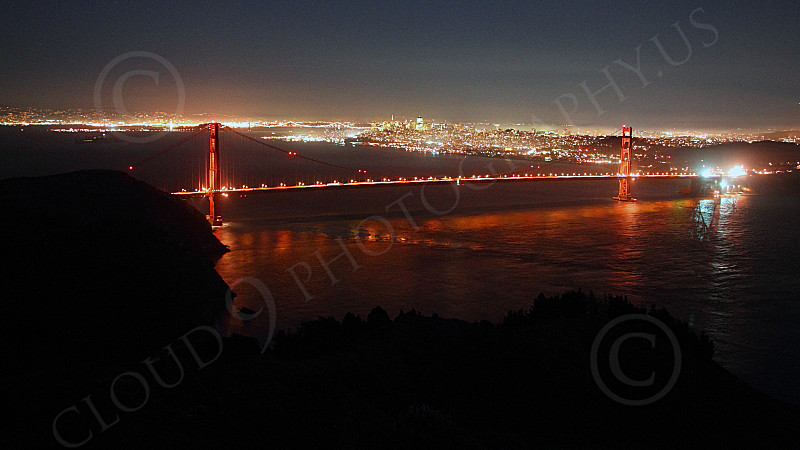 ENGF-GGB 00300 An expansive night view of the Golden Gate Bridge, by Peter J Mancus