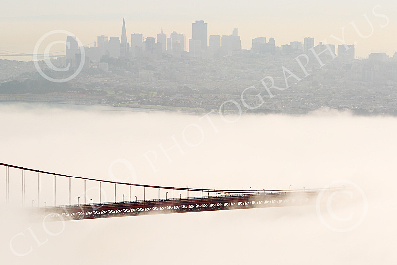 ENGF-GGB 00090 A tight crop of part of the Golden Gate Bridge's roadway with San Francisco in the background, by Peter J Mancus