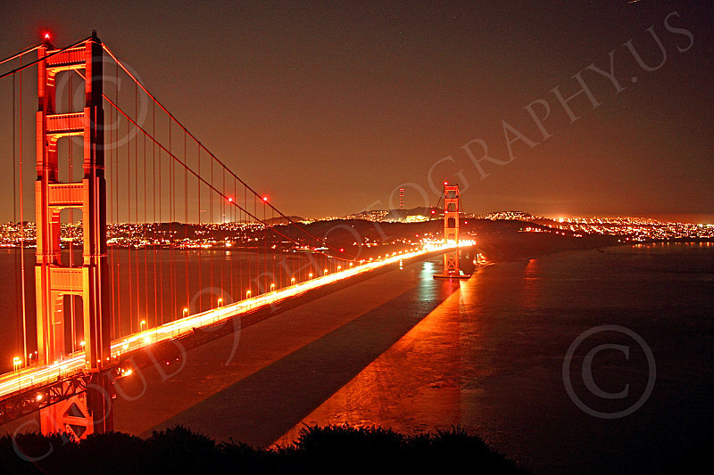ENGF-GGB 00150 An expansive Golden Gate Bridge night scene, by Peter J Mancus