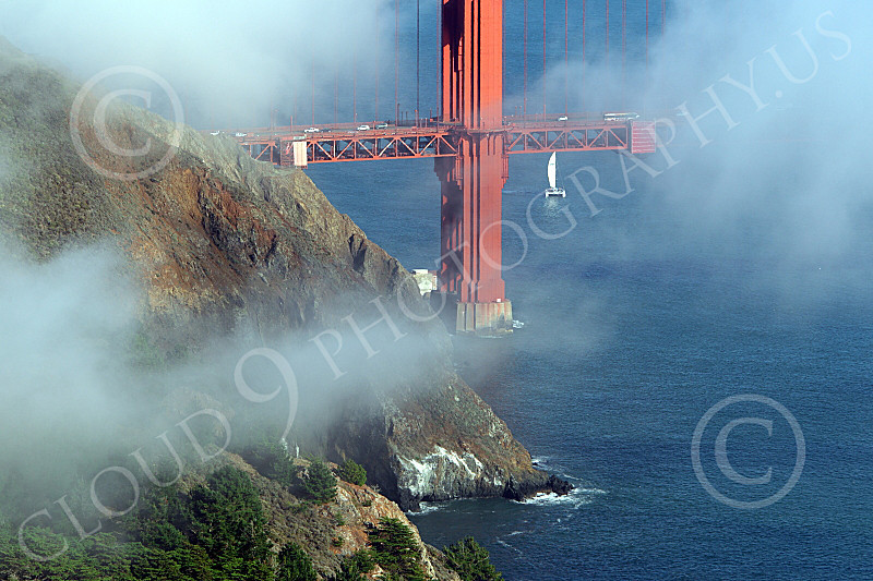 ENGF-GGB 00234 A tight crop of the bottom of the Golden Gate Bridge's north tower, by Peter J Mancus
