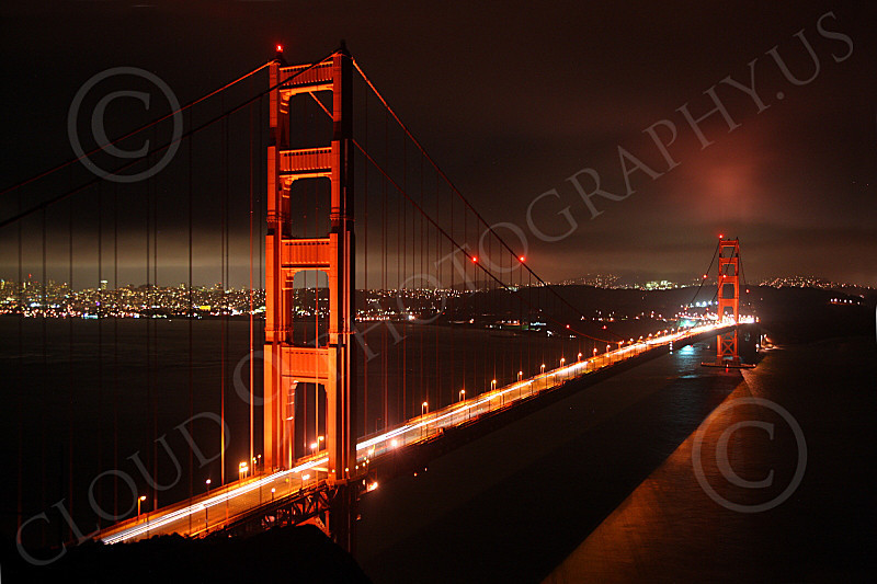 ENGF-GGB 00114 Night view of the Golden Gate Bridge, by Peter J Mancus