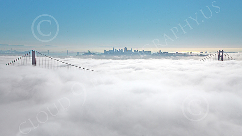 ENGF-GGB 00087 The Golden Gate Bridge engulfed in thick fog, by Peter J Mancus