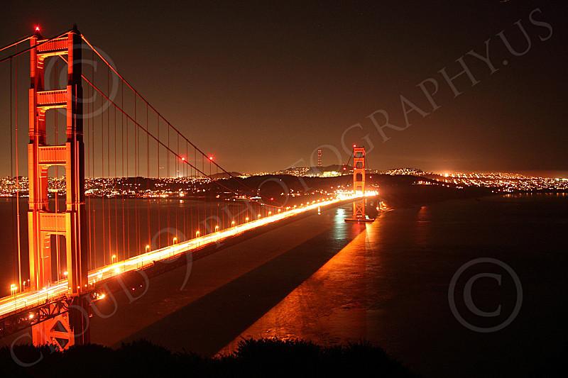 ENGF-GGB 00130 An expansive Golden Gate Bridge night scene, by Peter J Mancus