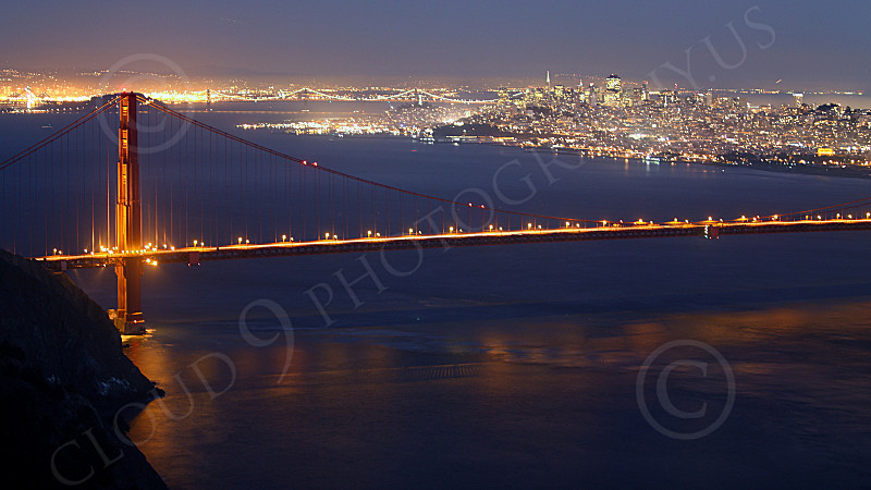 ENGF-GGB 00216 The Golden Gate Bridge at twilight, by Peter J Mancus