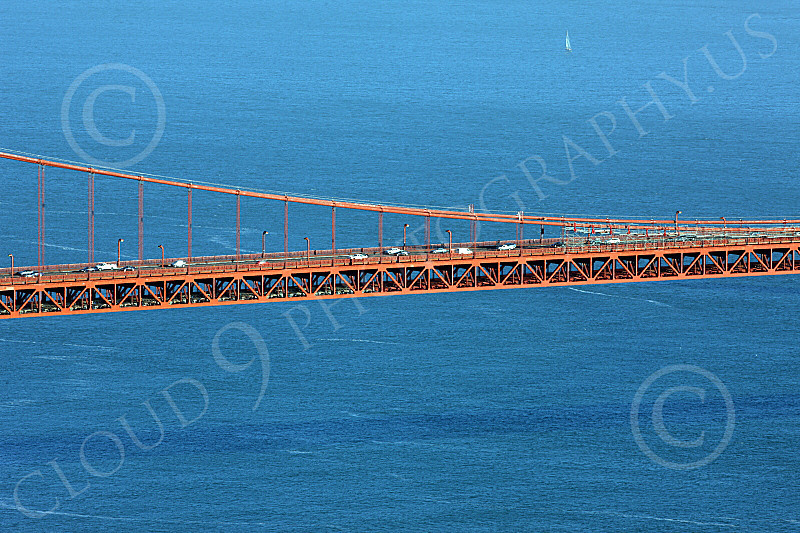 ENGF-GGB 00184 A tight crop of Golden Gate Bridge suspended roadway, by Peter J Mancus