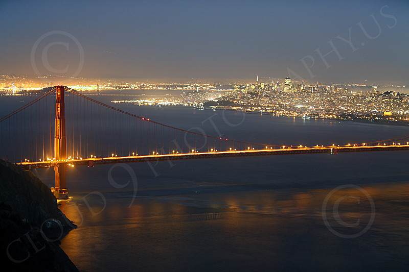 ENGF-GGB 00288 The Golden Gate Bridge at twilight, by Peter J Mancus