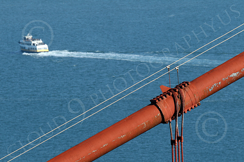 ENGF-GGB 00152 This close up of a cable on the Golden Gate Bridge shows weathering, by Peter J Mancus