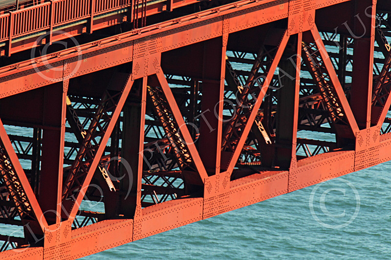 ENGF-GGB 00151 The Golden Gate Bridge is made of a lot of metal in triangular shapes, by Peter J Mancus