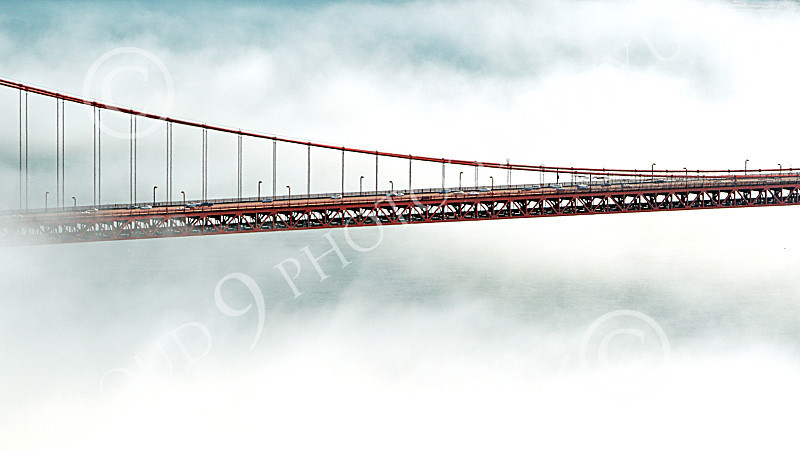 ENGF-GGB 00290 The Golden Gate Bridge's roadway, in fog, by Peter J Mancus