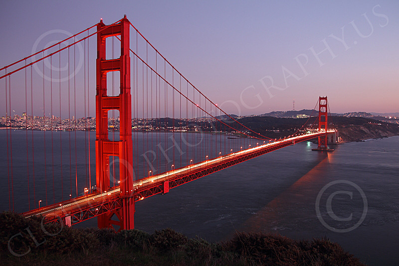 ENGF-GGB 00144 The Golden Gate Bridge at twilight, by Peter J Mancus