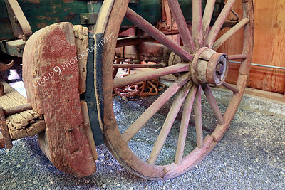 AMER-WagW 00005 Brake on an old wagon wheel at Angel's Camp Museum, California by Peter J Mancus
