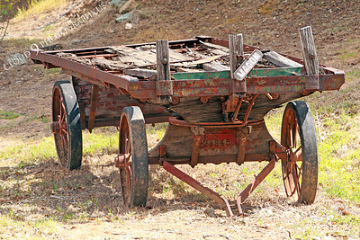 AMER-Wag 00001 An old wagon at Angel's Camp, California by Peter J Mancus