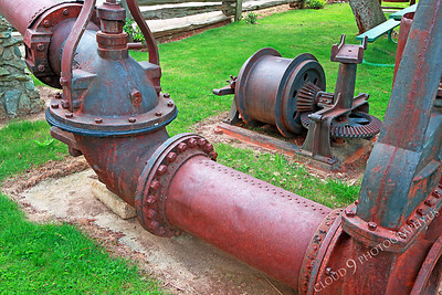 AMER-ME 00004 Above ground parts of large old mining equipment at Angel's Camp Museum, California by Peter J Mancus