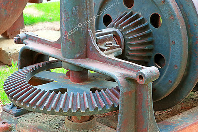 AMER-ME 00002 Above ground parts of large old mining equipment at Angel's Camp Museum, California by Peter J Mancus