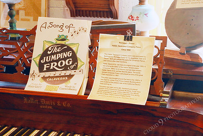 AMER-Mus 00001 Calaveras jumping frog sheet music on a piano at the Angel's Camp Museum, California by Peter J Mancus
