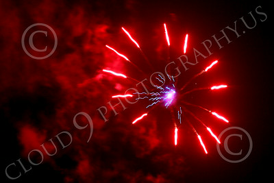 FIREWORKS 00010 A red ferris wheel like fireworks picture by Peter J Mancus